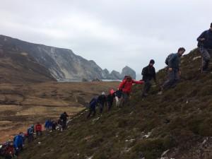 Climbing out of Glenlough