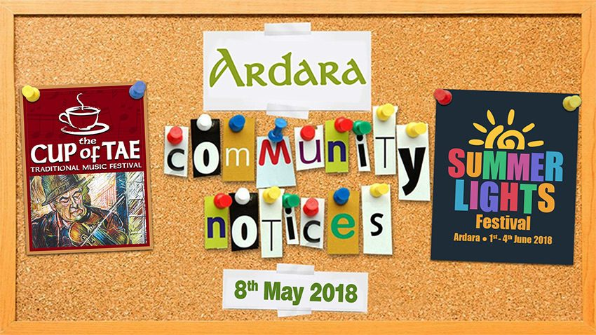 Ardara Community Notices 8th May 2018