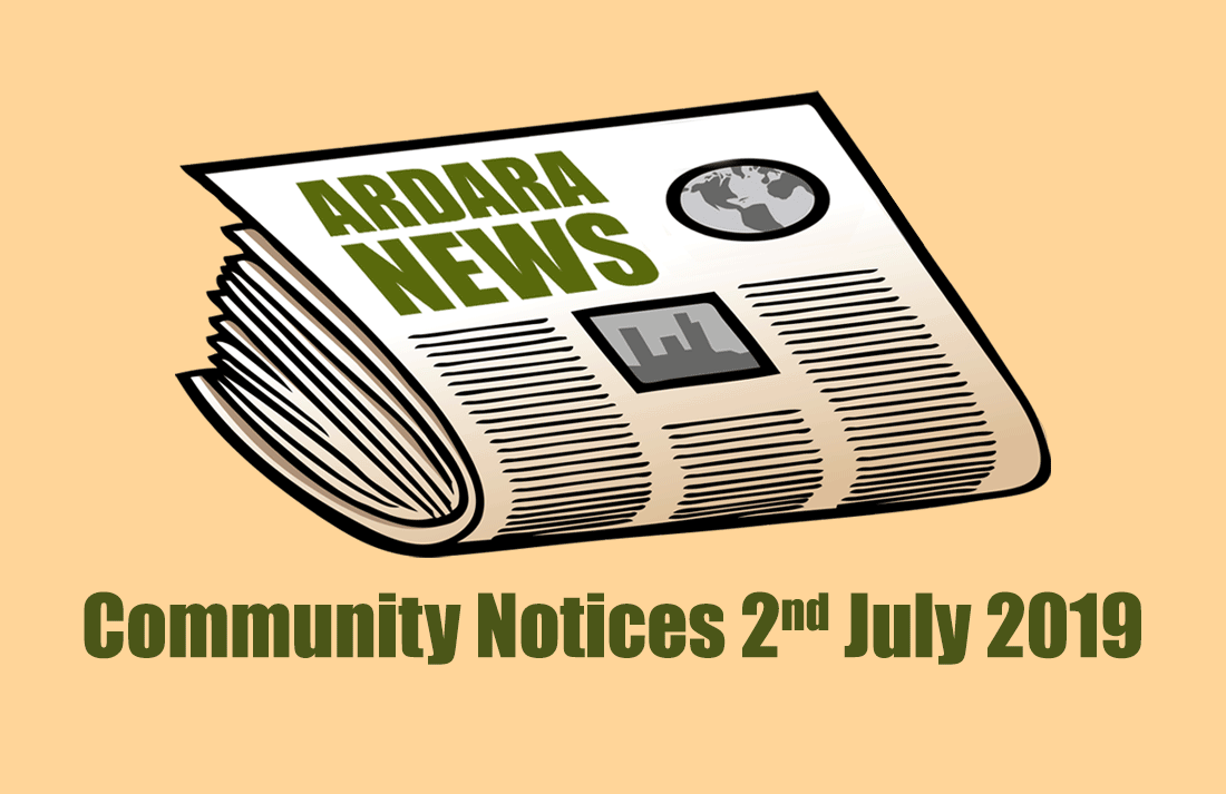Community Notices 2nd July 2019