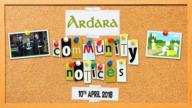 Ardara Community Notices 10th April 2018