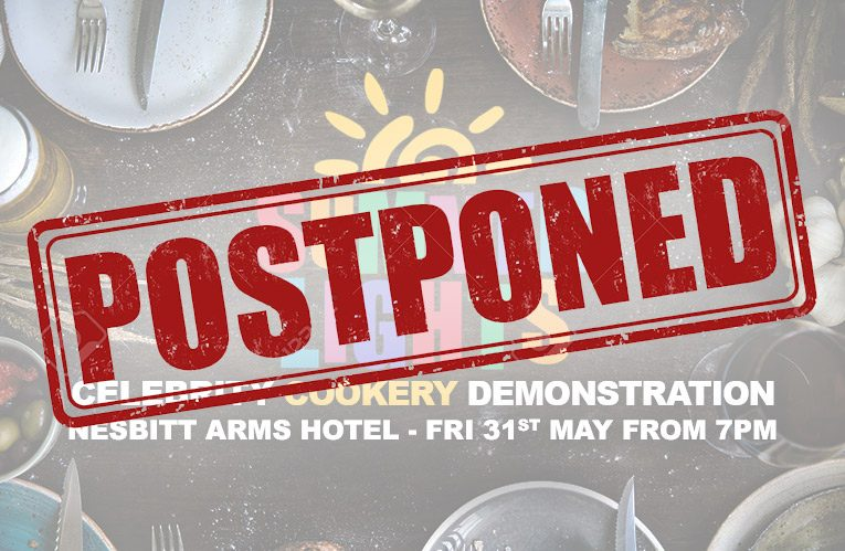 Cookery Demonstration Postponed