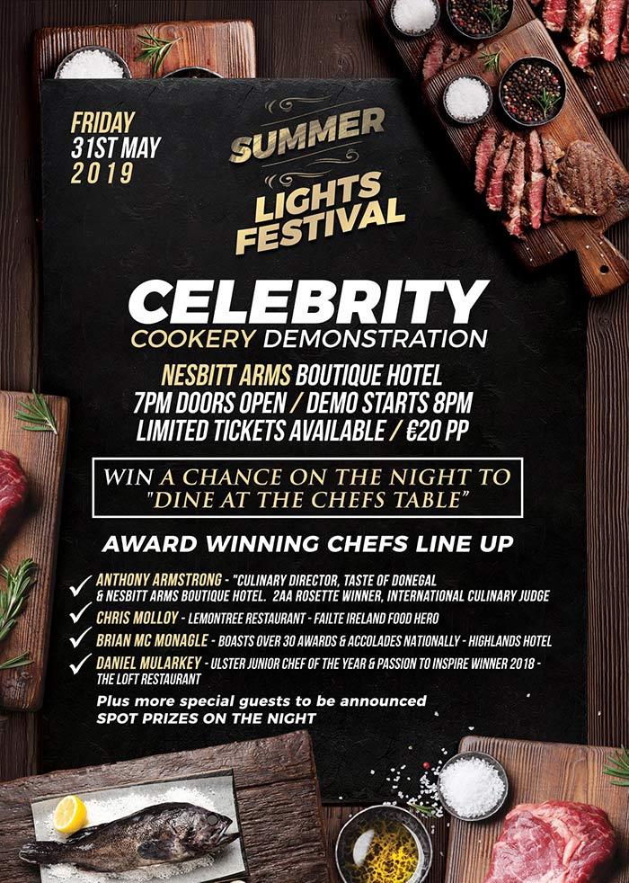 Nesbitt Arms Celebrity Cookery Demonstration