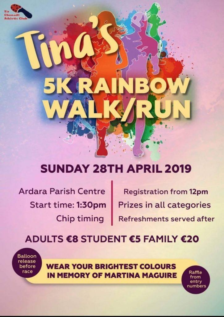 Tina's 5k Rainbow walk/run